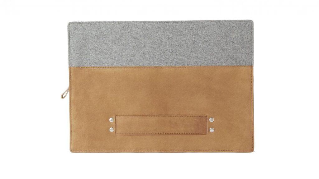 John Lewis & Partners leather felt laptop case