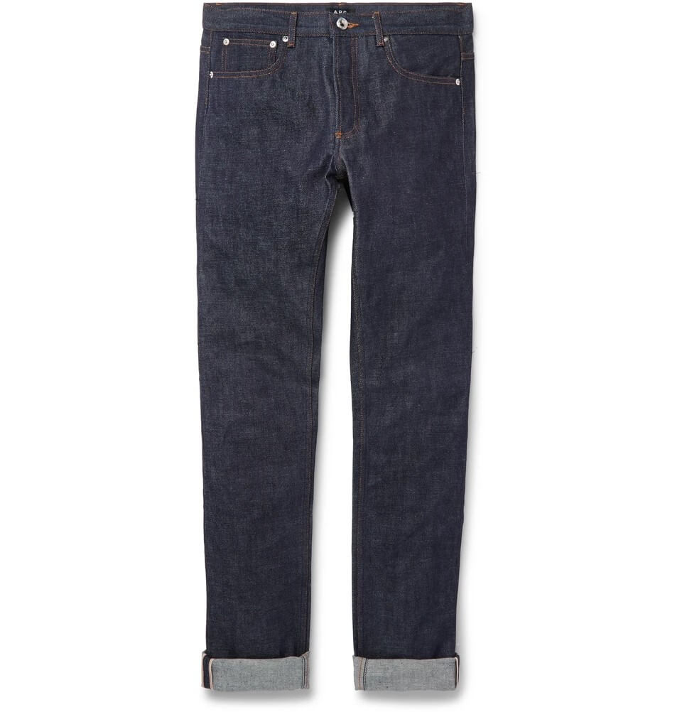 Petit Standard Slim-Fit Dry Selvedge Denim Jeans